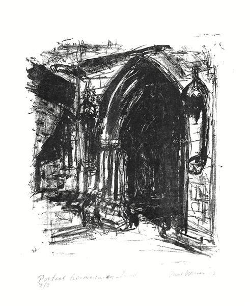 church portal of Kermaria-en-Isquit in Brittany, France, 1997 - Paul Werner