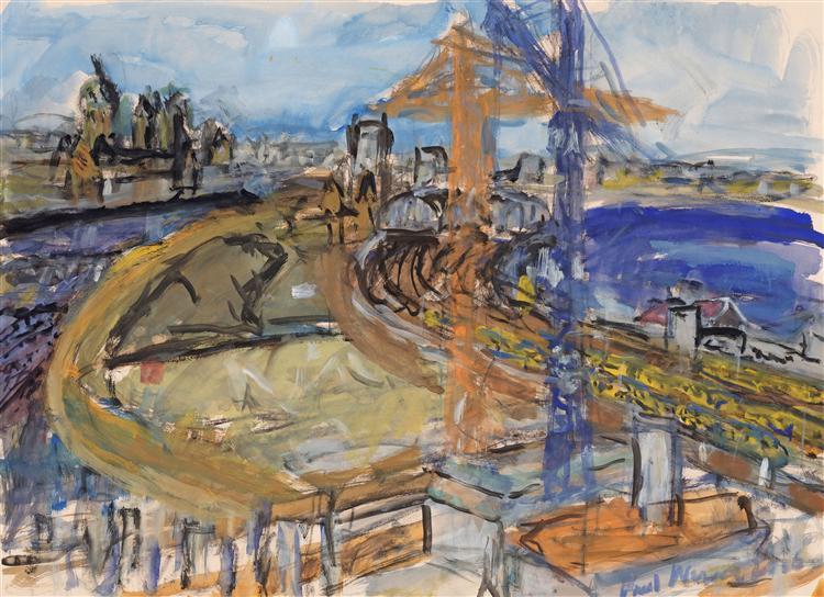 View over excavation Oosterdok, Amsterdam city, 2006 - Paul Werner