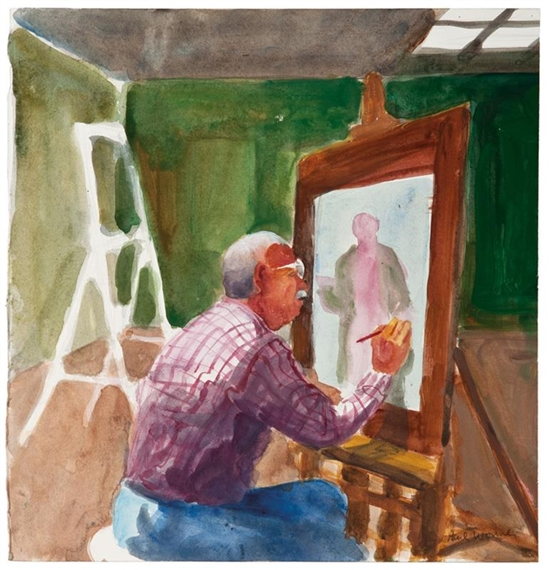 Self-Portrait Painting, 2001 - Paul Wonner
