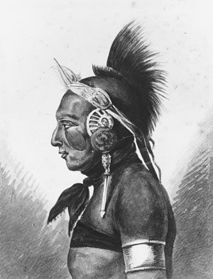 An Osage Warrior, c.1812 - Pavel Svinyin