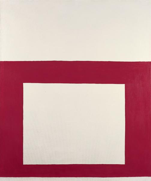 """Cool"" Series No. 1 (Red over White), 1963 - Перл Файн"