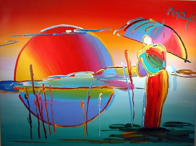 Buddha Moon (Monk Sunrise), 1999 - Peter Max