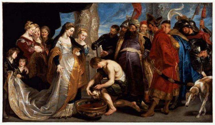Head of Cyrus Brought to Queen Tomyris, c.1622 - c.1623 - Peter Paul Rubens
