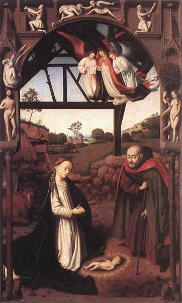 Nativity, 1452 - Петрус Кристус