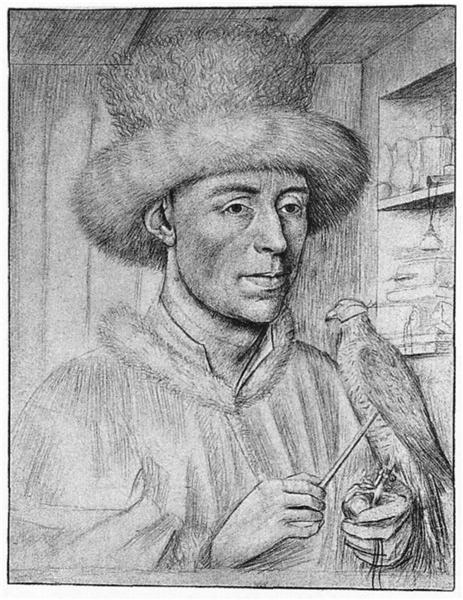 Portrait of a Man with a Falcon, c.1447 - Петрус Кристус