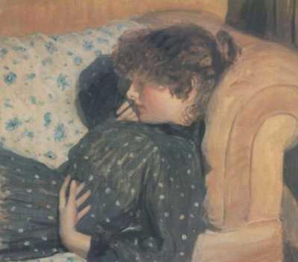 Girl on a Sofa, 1891 - Philip Wilson Steer
