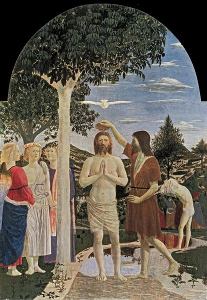 Baptism of Christ, 1450 - Piero della Francesca