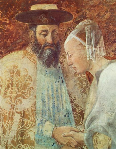 Meeting between the Queen of Sheba and King Solomon (detail), 1452 - 1466 - Piero della Francesca
