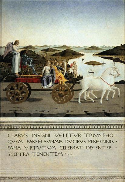 Triumph of Federico da Montefeltro, 1465 - 1466 - Piero della Francesca