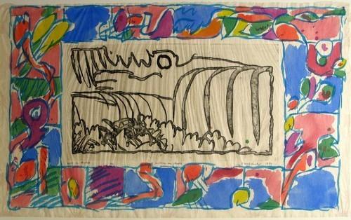 Around the Falls, 1979 - Pierre Alechinsky