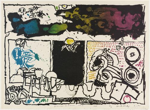 Discovery of Acid (Act I) [Découverte de l'acide (acte I)], 1986 - Pierre Alechinsky