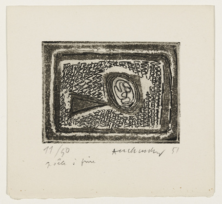 Frying Pan (La poêle à frire), 1951 - Pierre Alechinsky