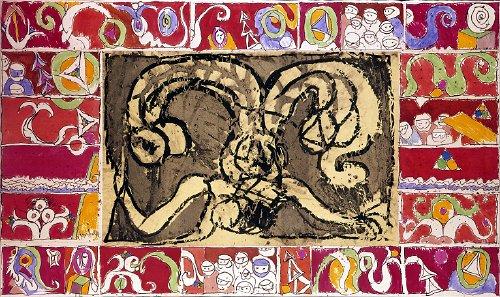 Gille de la mémoire ou Androgylle de Binche, 1970 - Pierre Alechinsky