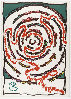 Plate V from the portfolio Ceremonial Labyrinths (Labyrinthes d'apparat), 1972 - Pierre Alechinsky