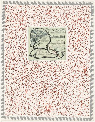 Plate VI from the portfolio Papiers Traités, 1978 - Pierre Alechinsky