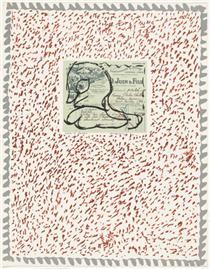 Plate VI from the portfolio Papiers Traités - Pierre Alechinsky
