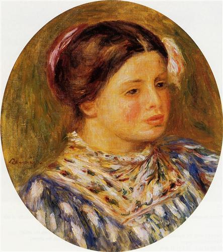 Girl in Blue - Pierre-Auguste Renoir