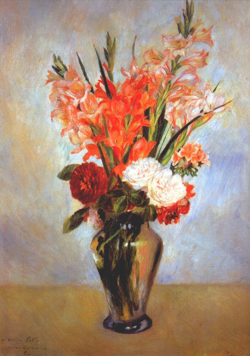 Gladioli C 1885 Pierre Auguste Renoir Wikiart Org