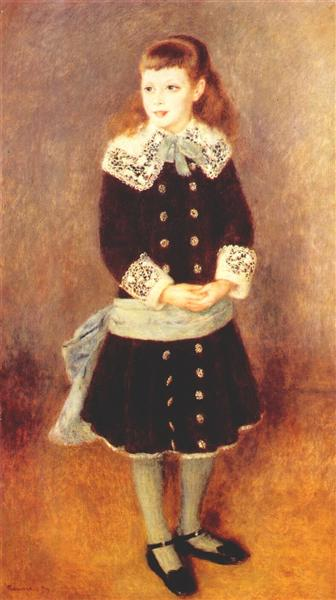 Marthe Berard (Girl Wearing a Blue Sash), 1879 - Pierre-Auguste Renoir