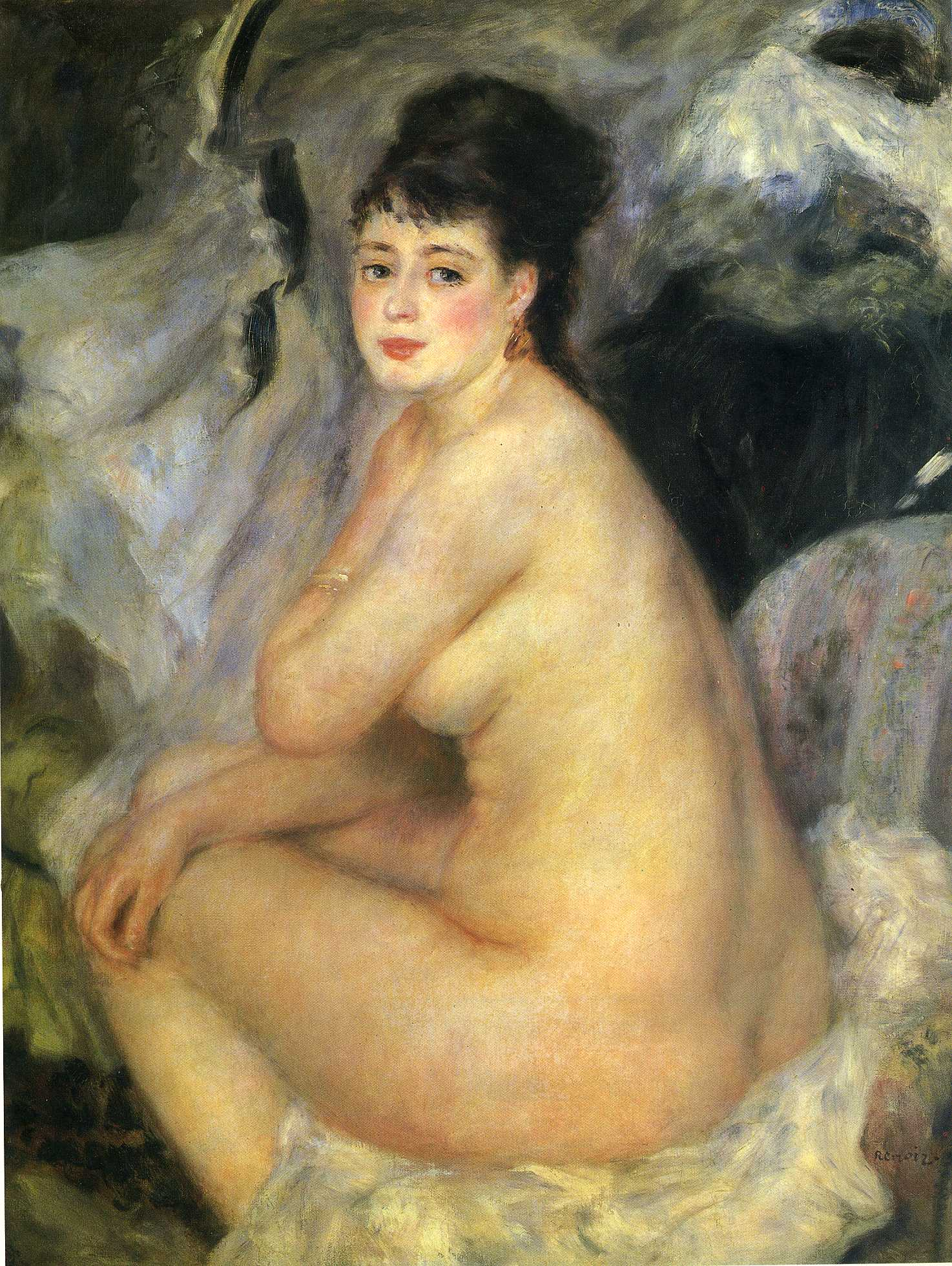 Renoirs nude on a couch paintint
