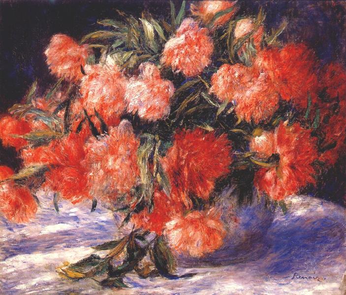 Peonies, c.1880 - Pierre-Auguste Renoir