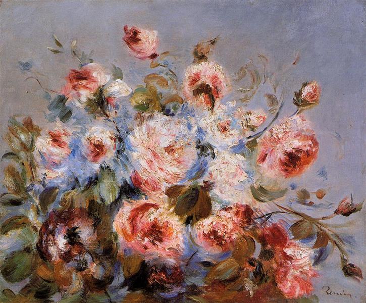 Roses from Wargemont, 1885 - Pierre-Auguste Renoir