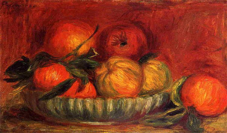 Still Life with Apples and Oranges, c.1897 - Pierre-Auguste Renoir