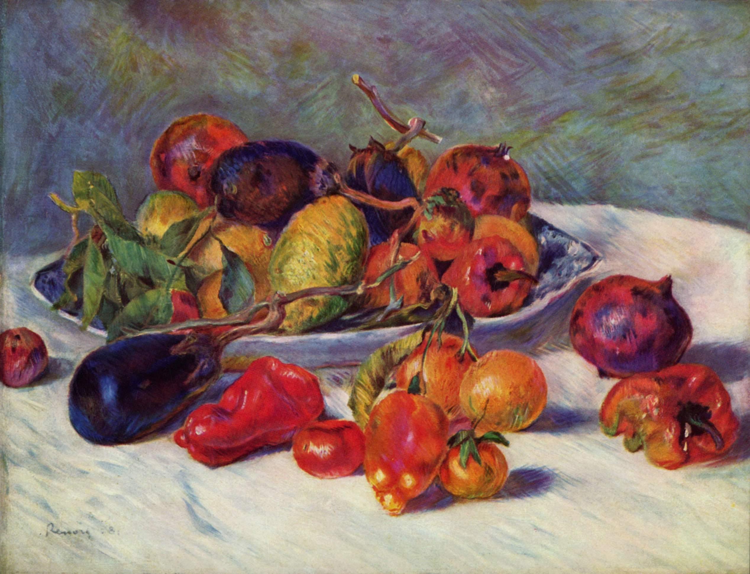 Still Life with Fruit, 1881 - Pierre-Auguste Renoir ...