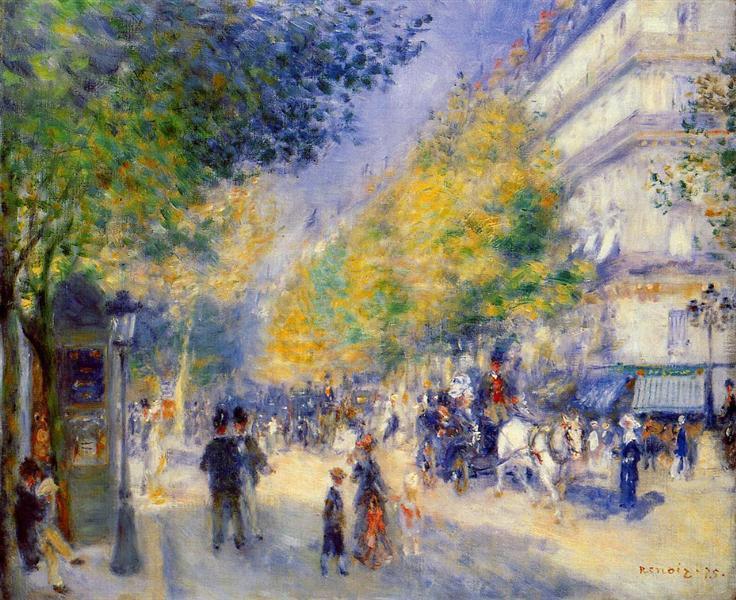 The Great Boulevards, 1875 - Pierre-Auguste Renoir