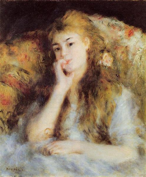 The Thinker, c.1876 - 1877 - Pierre-Auguste Renoir