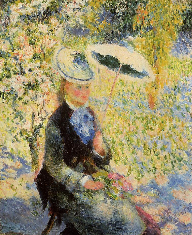 The Square Art Umbrella : RENOIR : The boaters