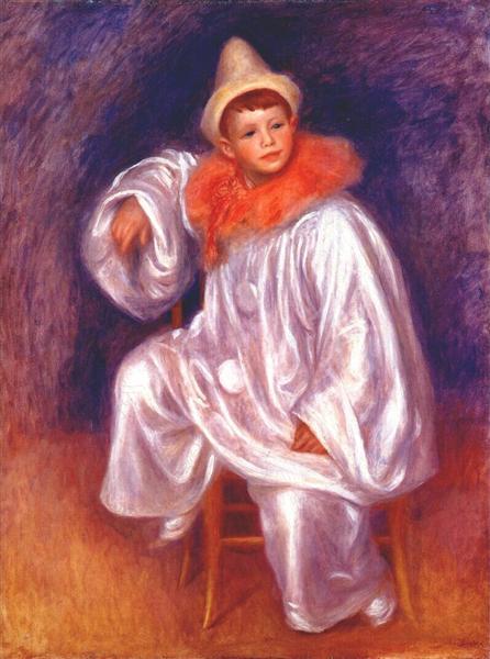 The white pierrot (Jean Renoir), 1901 - 1902 - Pierre-Auguste Renoir