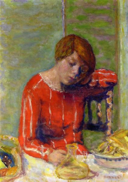 Striped Blouse, c.1922 - Pierre Bonnard