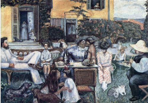 The Bourgeois Afternoon or The Terrasse Family - Pierre Bonnard