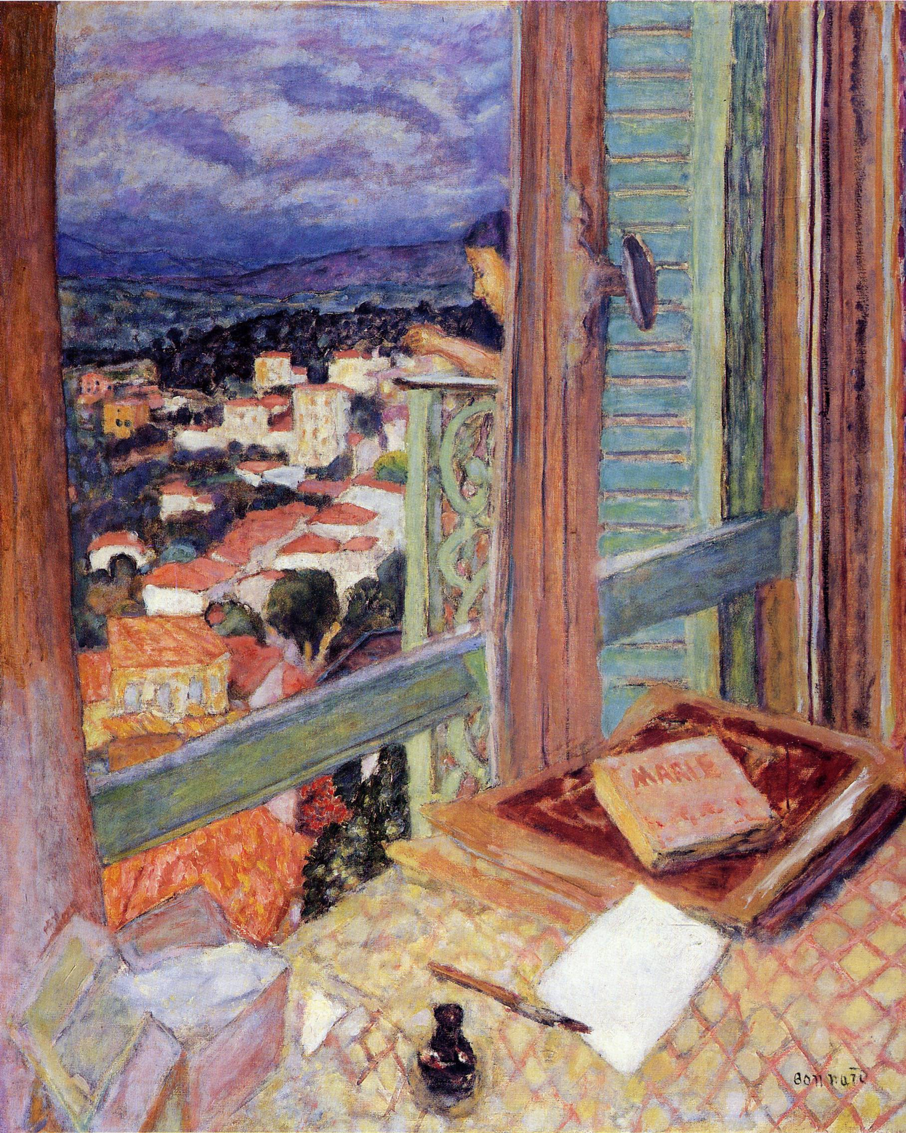 the window 1925 pierre bonnard. Black Bedroom Furniture Sets. Home Design Ideas