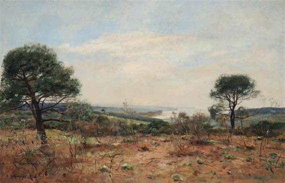 A Landscape, 1902 - Pierre Emmanuel Damoye