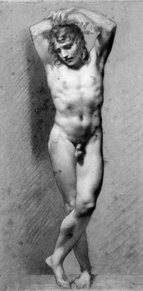 Academic Male Nude - Pierre-Paul Prud'hon. Artist: Pierre-Paul Prud'hon