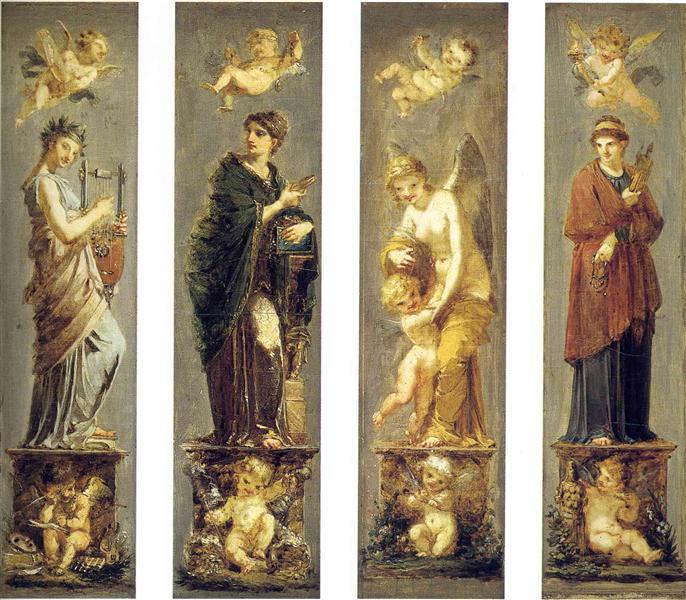 Arts, Wealth, Pleasure and Philosophy, c.1800 - Pierre-Paul Prud'hon