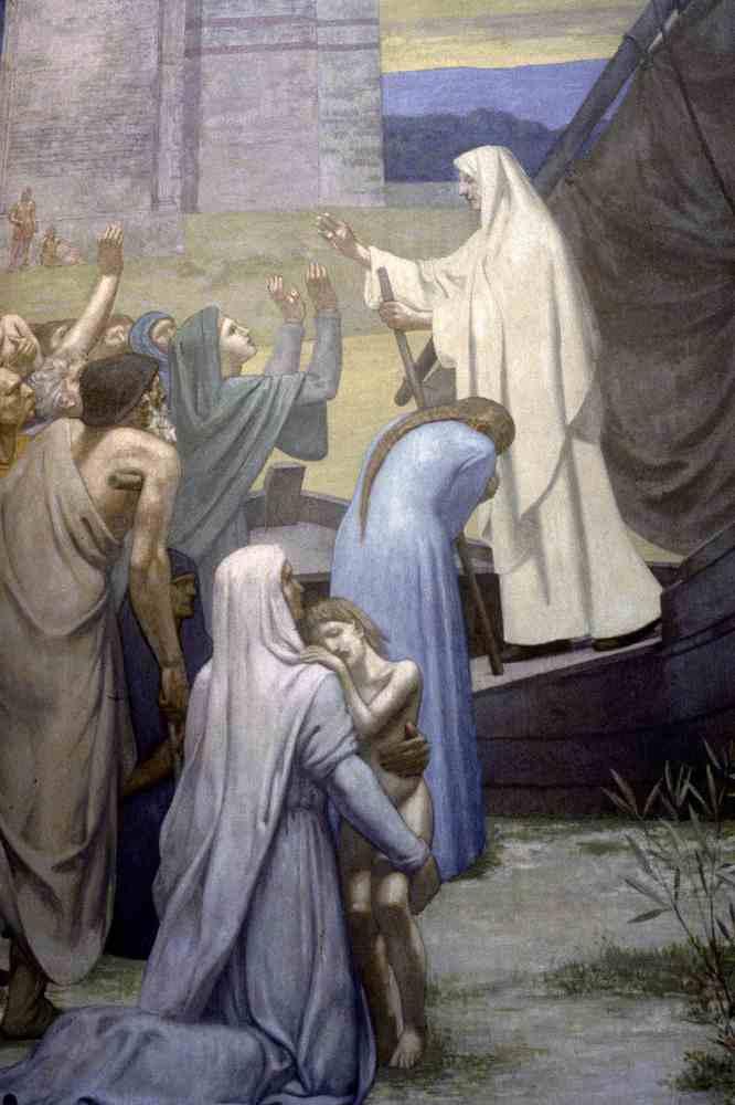 Tableau poétique des fêtes chrétiennes - Vicomte Walsh - 1843 - (Images et Musique chrétienne) St-genevieve-bringing-supplies-to-the-city-of-paris-after-the-siege