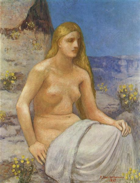 The Penitent Magdalen, 1897 - Pierre Puvis de Chavannes