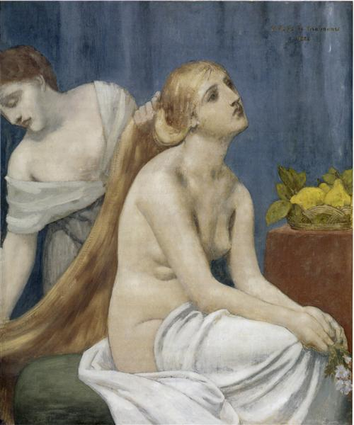 The Toilette, 1883 - Pierre Puvis de Chavannes