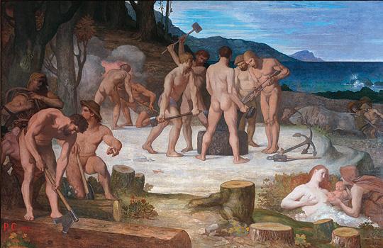 Work, 1863 - Pierre Puvis de Chavannes