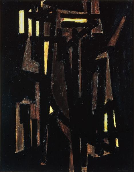 Peinture 146 x 114 cm, 1950, 1950 - Pierre Soulages