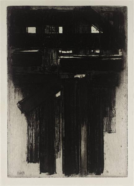 Untitled Intaglio, 1956 - Pierre Soulages
