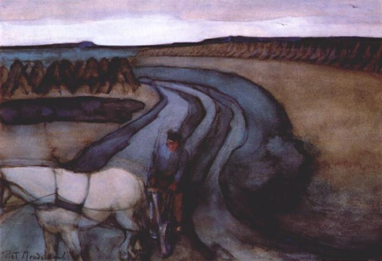 At Work / On the Land, 1898 - Piet Mondrian