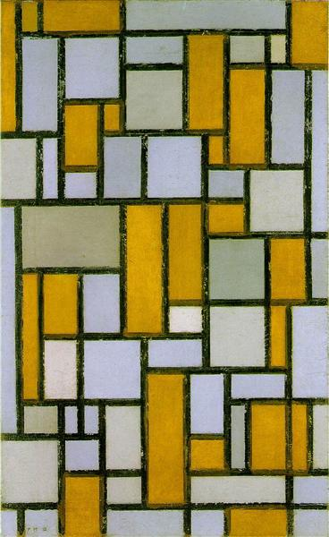 Composition with Gray and Light Brown, 1918 - Piet Mondrian