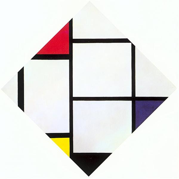 Lozenge Composition with Red, Gray, Blue, Yellow, and Black, 1924 - 1925 - Piet Mondrian
