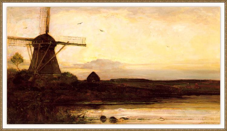 Mill in the evening, 1905 - Piet Mondrian