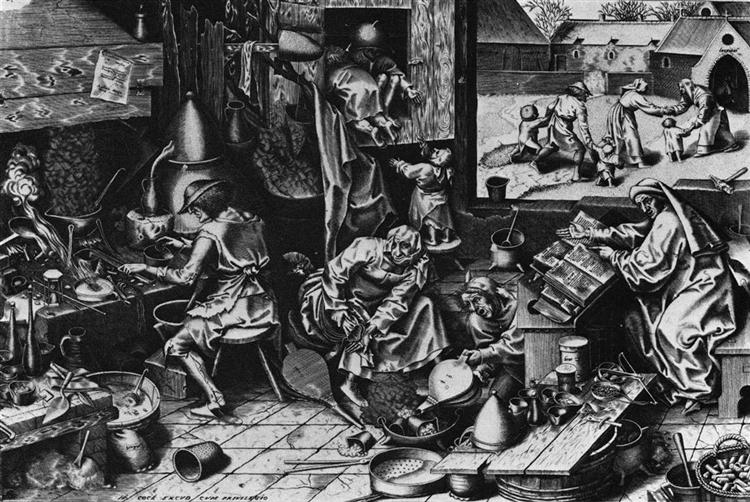 The Alchemist - Pieter Bruegel the Elder