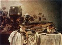 Breakfast Piece 1646 - Pieter Claesz